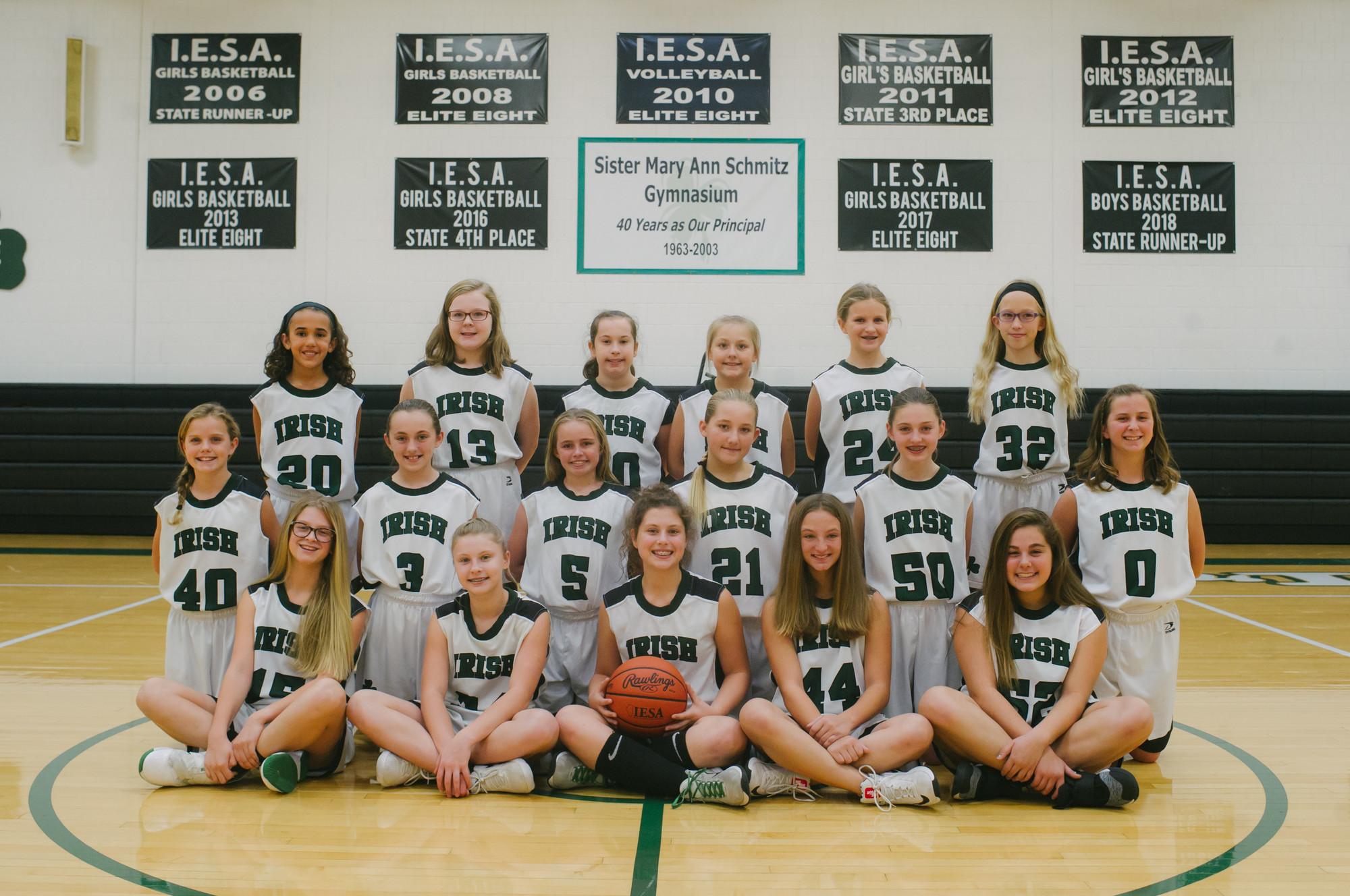 Girls Basketball 7th Grade Team
