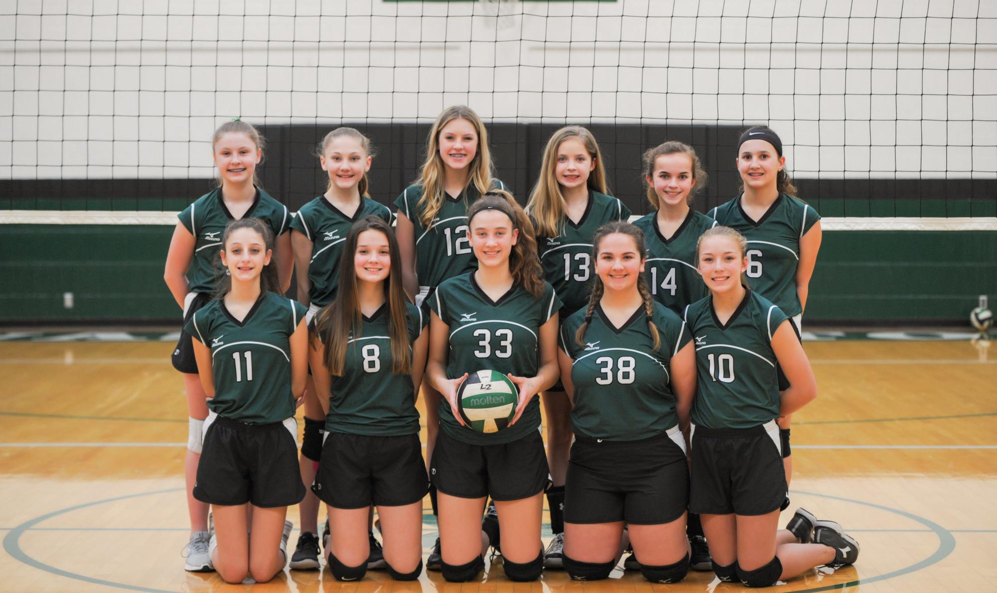 Volleyball 8th Grade Team